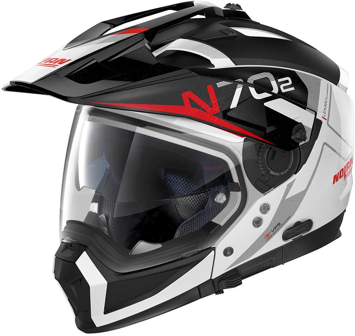 Nolan N70-2 X Bungee N-Com Helm, schwarz-weiss, Größe XL, schwarz-weiss, Größe XL