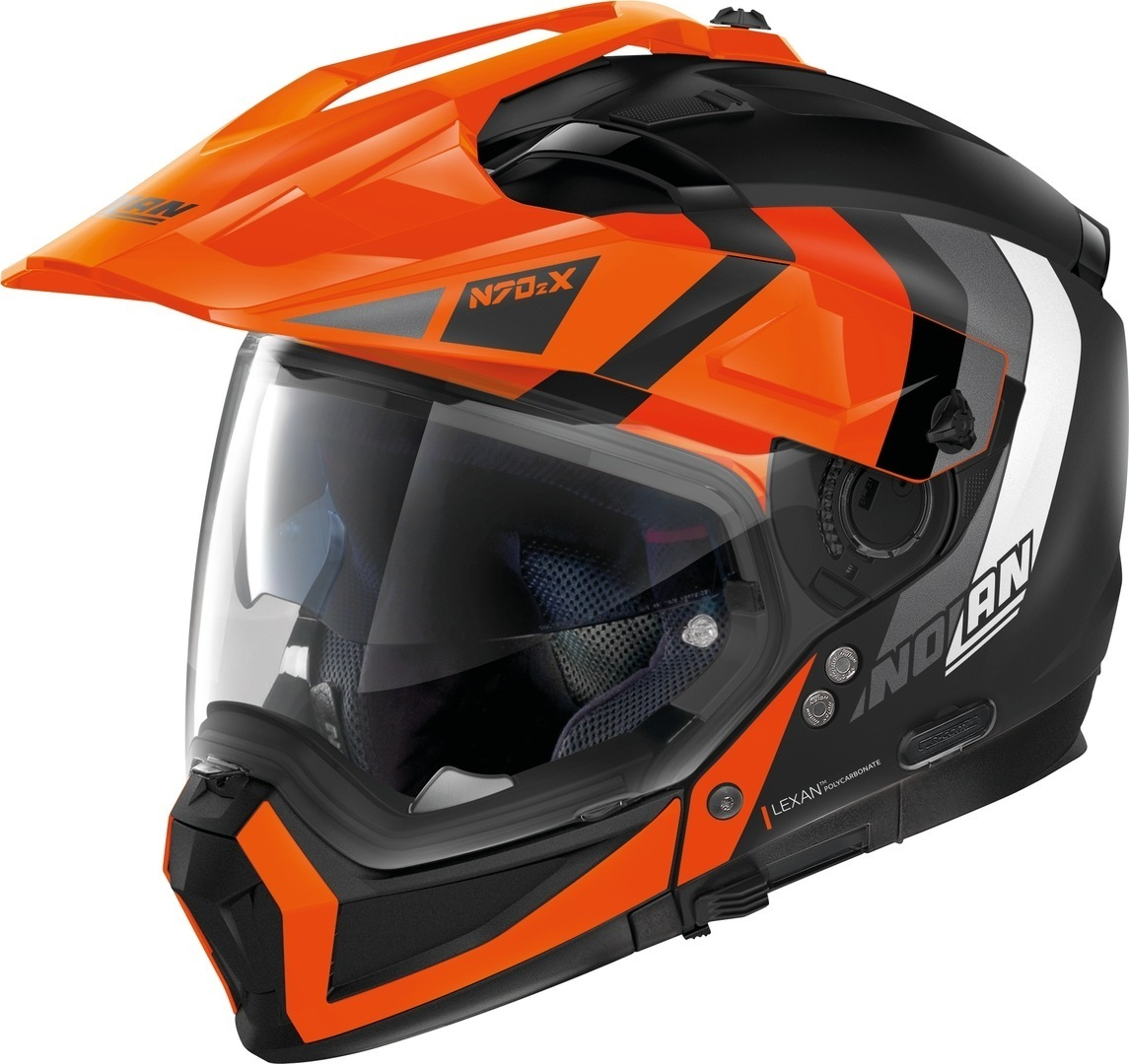 Nolan N70-2 X Decurio N-Com Helm, schwarz-orange, Größe M, schwarz-orange, Größe M