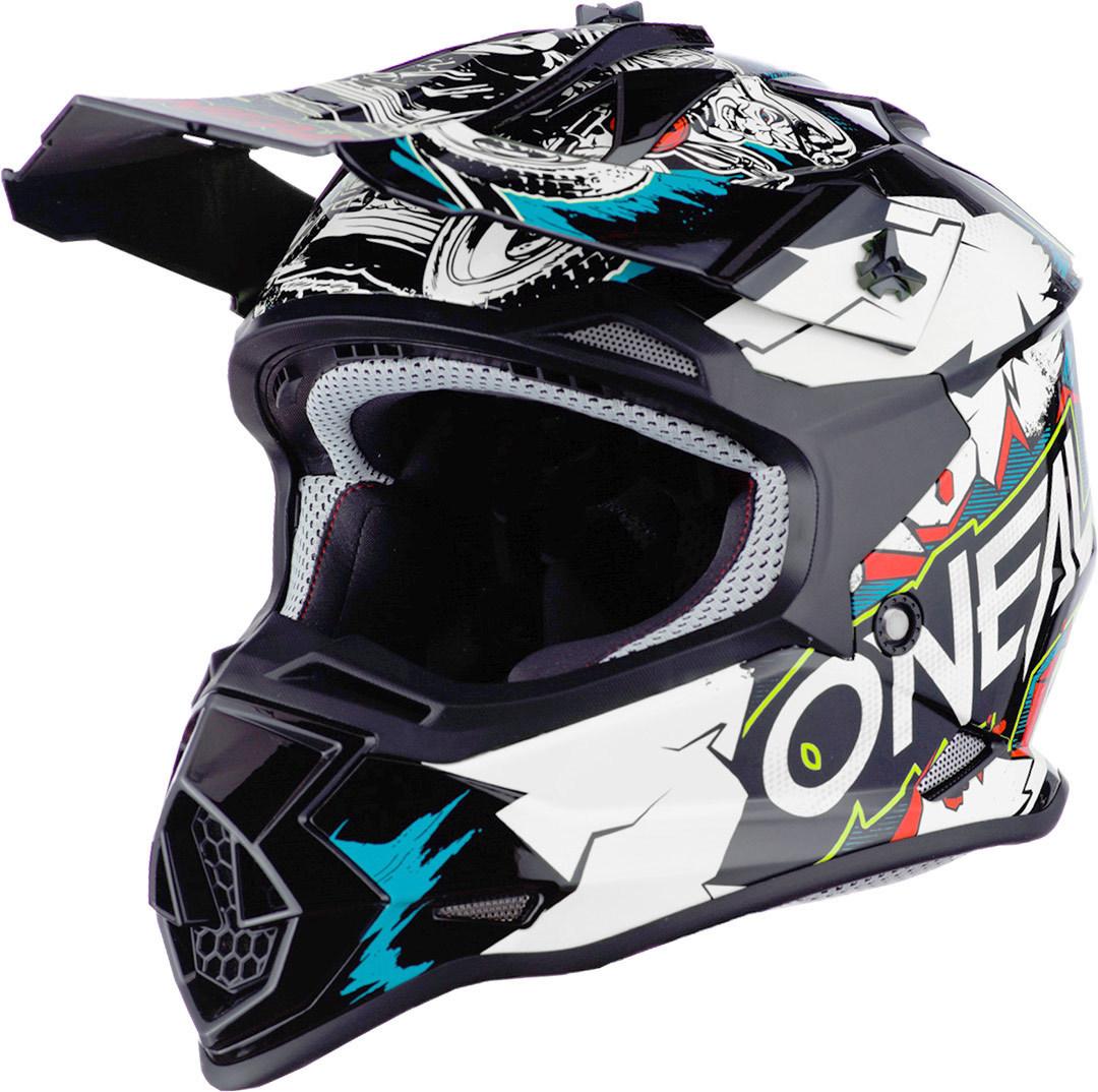 Oneal 2Series Villain Jugend Motocross Helm, weiss, Größe S, weiss, Größe S