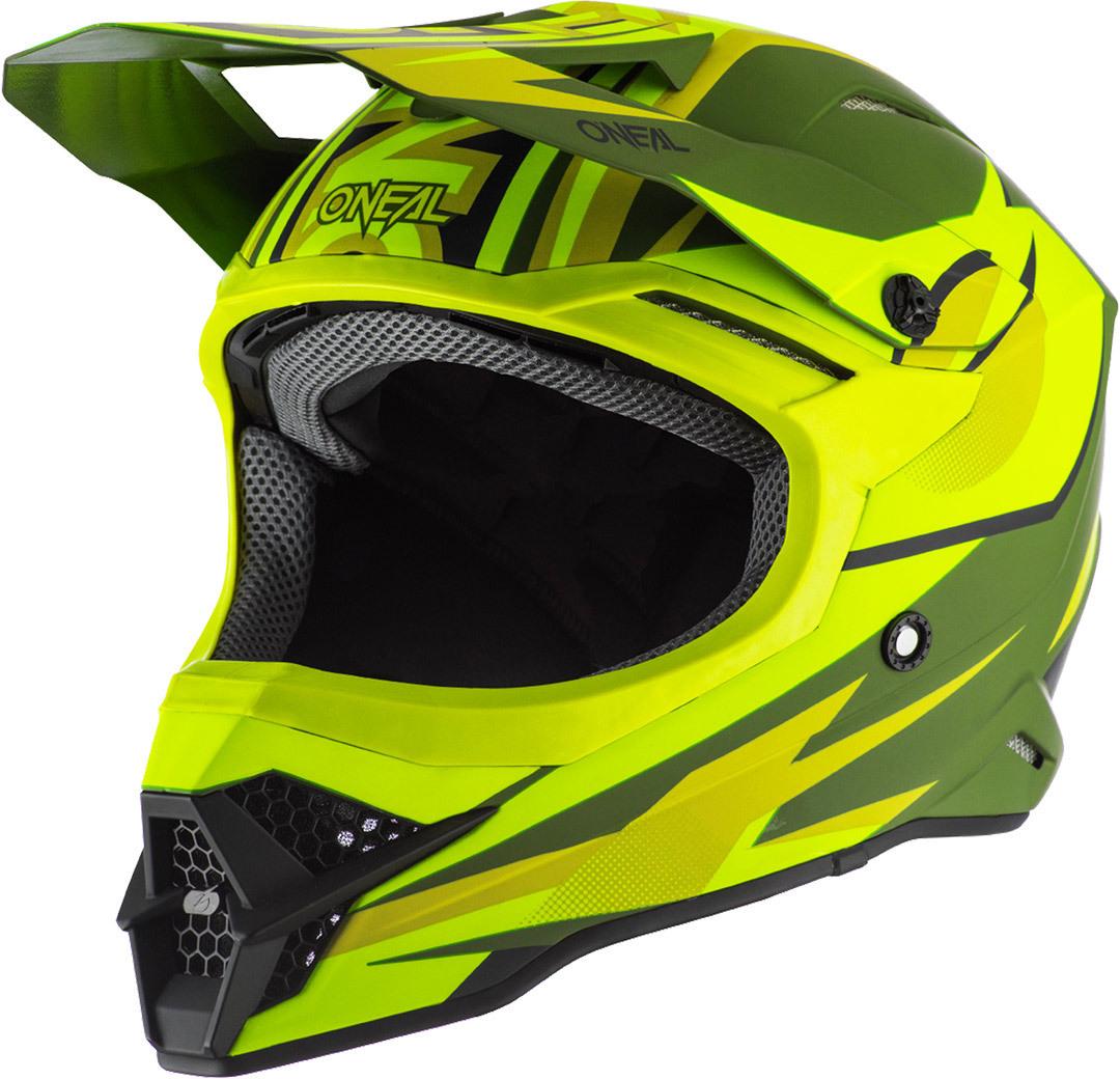 Oneal 3Series Riff 2.0 Motocross Helm, grün-gelb, Größe S, grün-gelb, Größe S