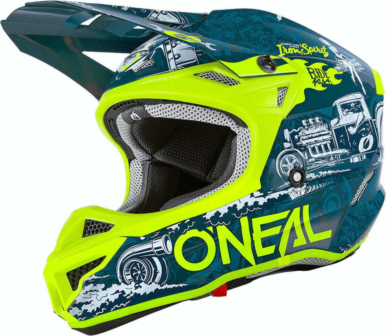 Oneal 5Series Polyacrylite HR Motocross Helm, gelb-blau, Größe XL, gelb-blau, Größe XL