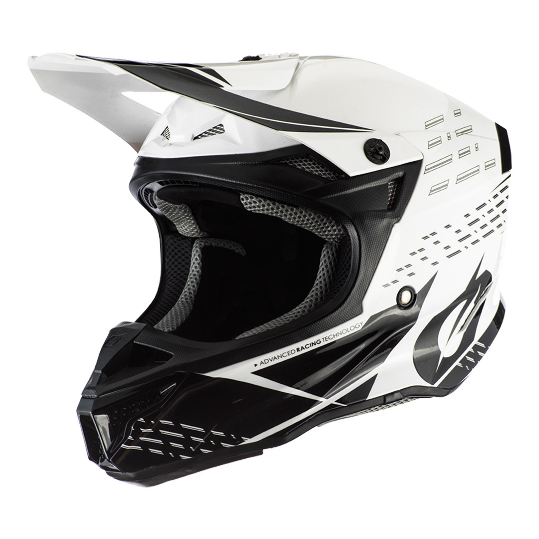 Oneal 5Series Polyacrylite Trace Motocross Helm, schwarz-weiss, Größe L, schwarz-weiss, Größe L