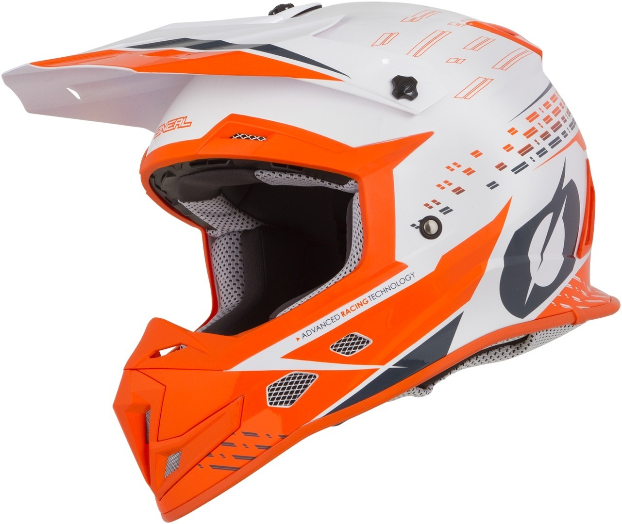 Oneal 5Series Trace Motocross Helm, weiss-orange, Größe S, weiss-orange, Größe S