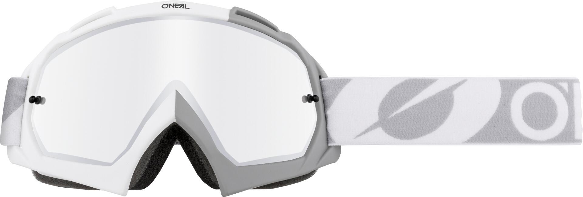 Oneal B-10 Twoface Silver Mirror Motocross Brille, grau-weiss, grau-weiss