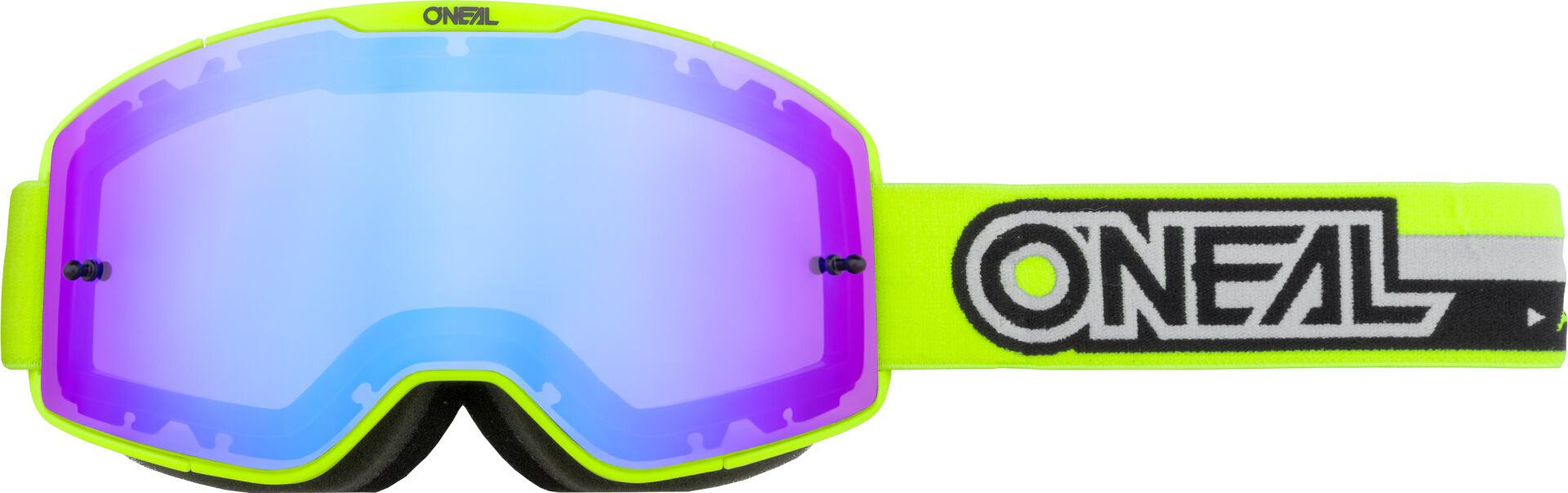 Oneal B-20 Proxy Motocross Brille - Verspiegelt, schwarz-gelb, schwarz-gelb