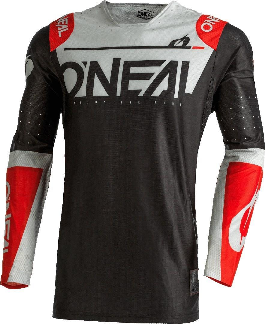 Oneal Prodigy Five One Limited Edition Motocross Jersey, schwarz-grau-rot, Größe L, schwarz-grau-rot, Größe L
