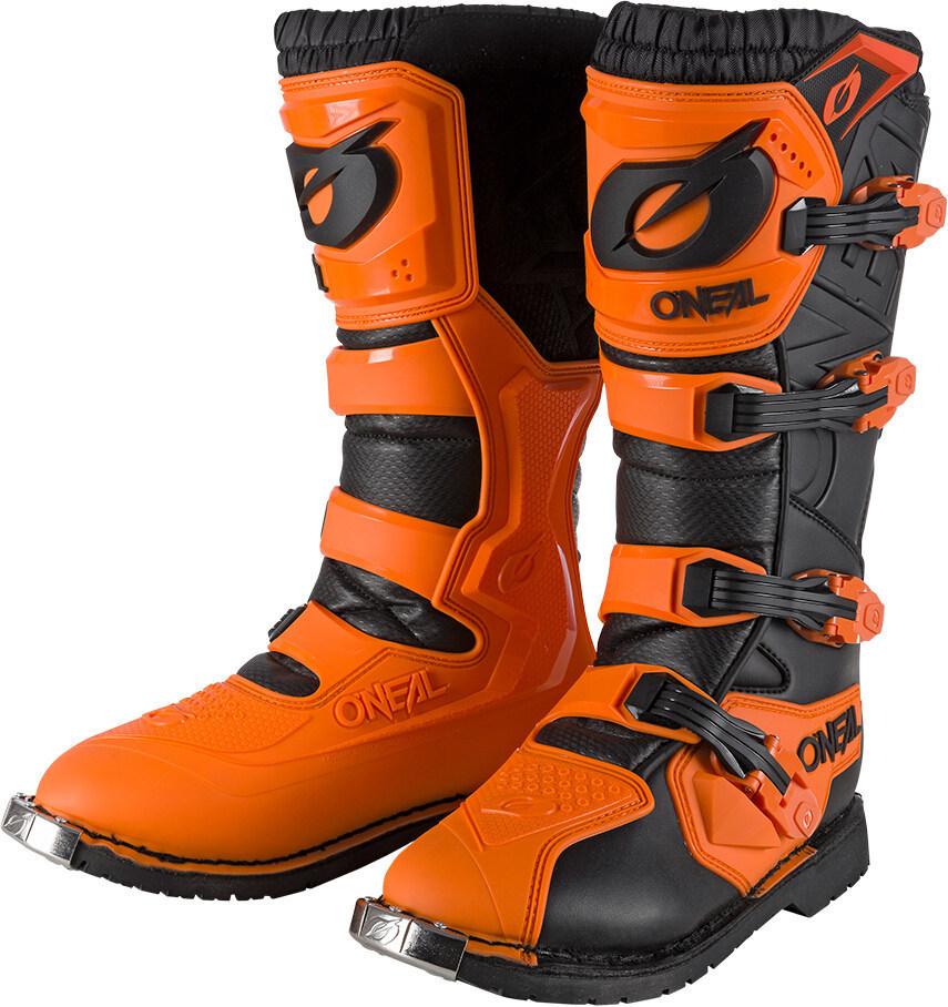 Oneal Rider Pro Motocross Stiefel, orange, Größe 44, orange, Größe 44