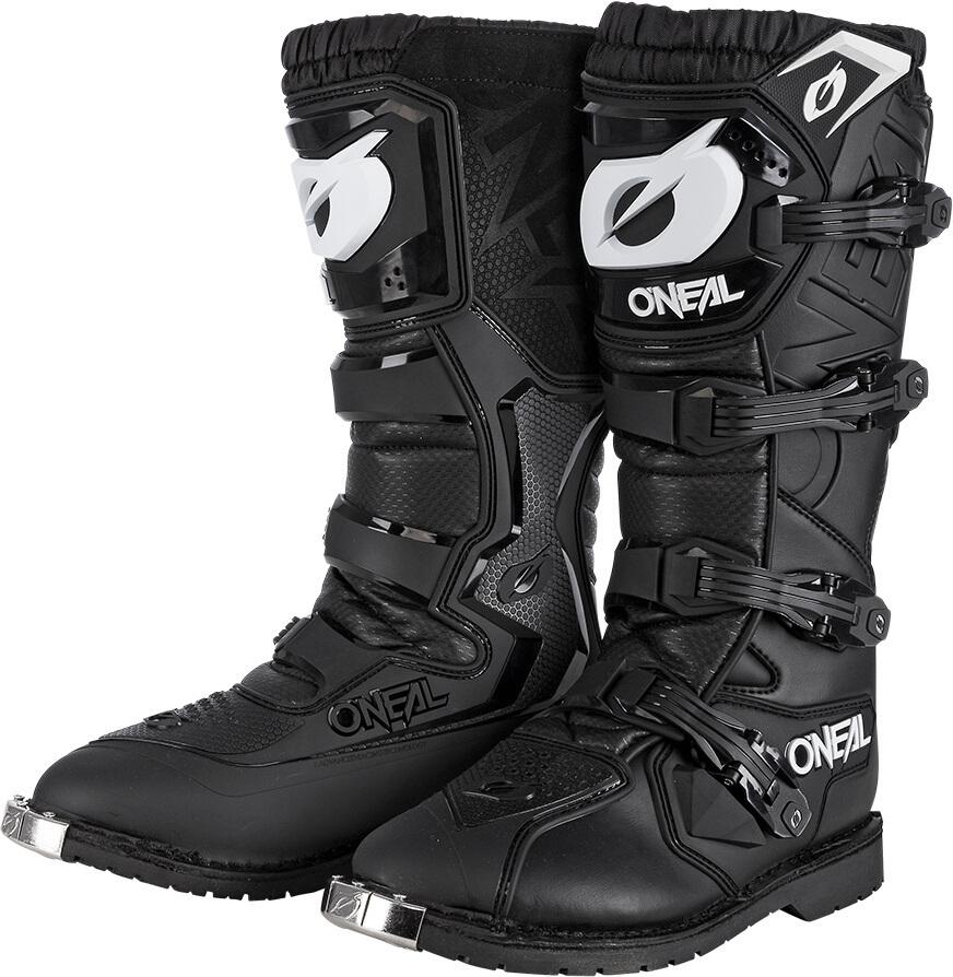 Oneal Rider Pro Motocross Stiefel, schwarz, Größe 48, schwarz, Größe 48