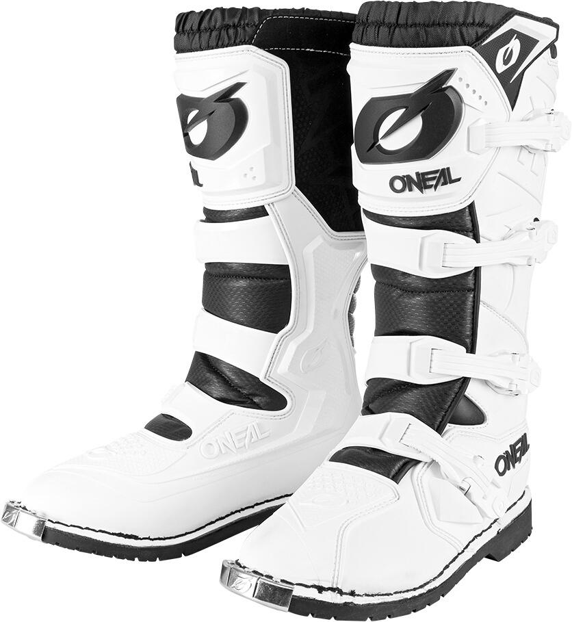 Oneal Rider Pro Motocross Stiefel, weiss, Größe 43, weiss, Größe 43