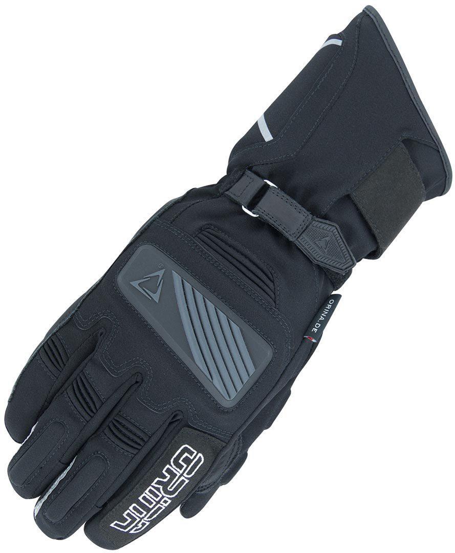 Orina Blizzard Wasserdichte Motorradhandschuhe, schwarz, Größe S, schwarz, Größe S