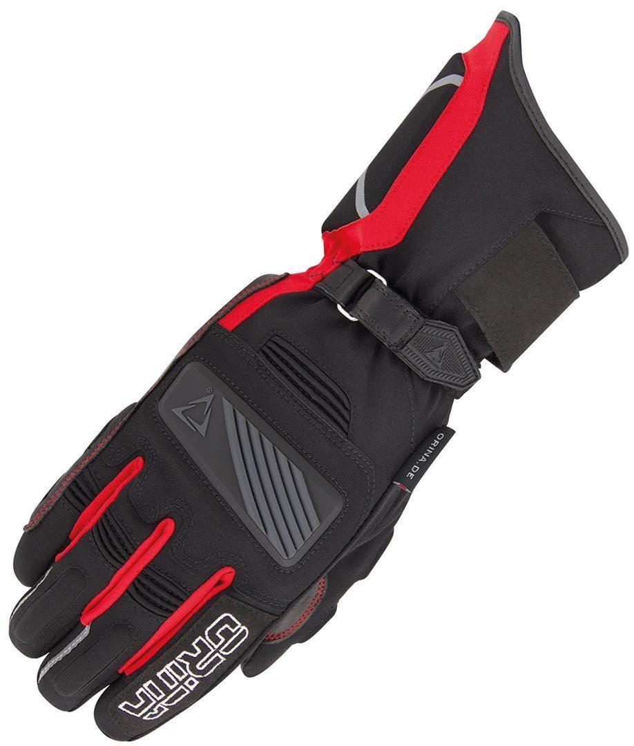 Orina Blizzard Wasserdichte Motorradhandschuhe, schwarz-rot, Größe L, schwarz-rot, Größe L