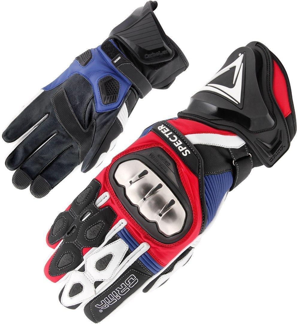 Orina Specter Motorradhandschuhe, weiss-rot-blau, Größe XL, weiss-rot-blau, Größe XL