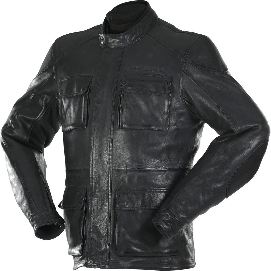 Overlap Maverick Motorrad Lederjacke, schwarz, Größe 2XL, schwarz, Größe 2XL