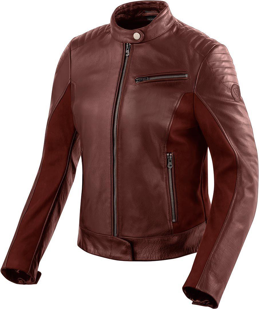 Revit Clare Ladies Damen Motorrad Lederjacke, rot, Größe 44, rot, Größe 44