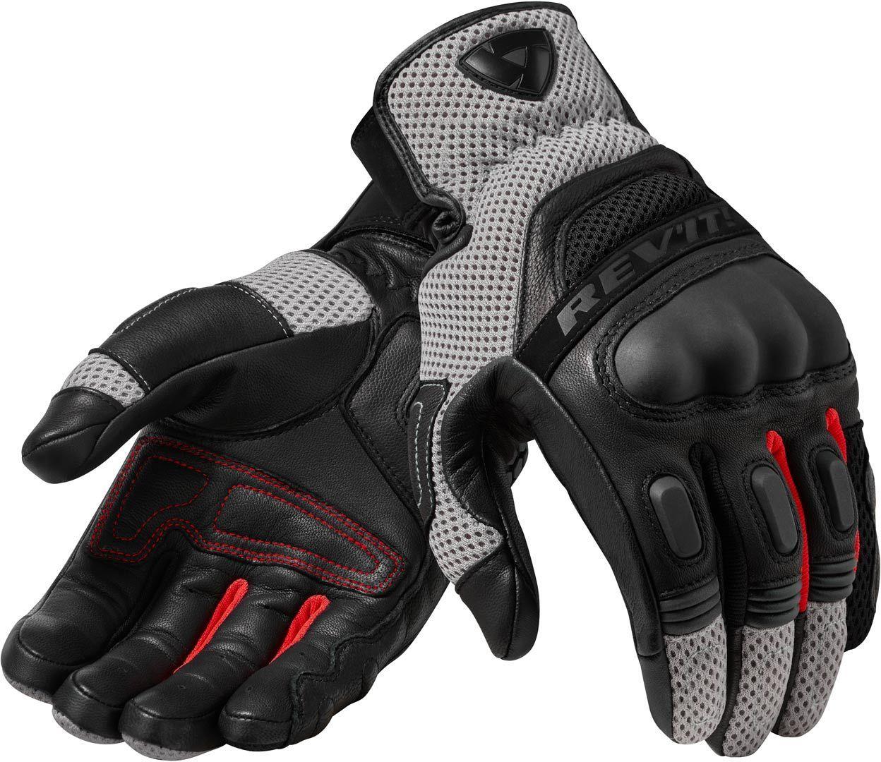 Revit Dirt 3 Motocross Handschuhe, schwarz-rot, Größe 3XL, schwarz-rot, Größe 3XL