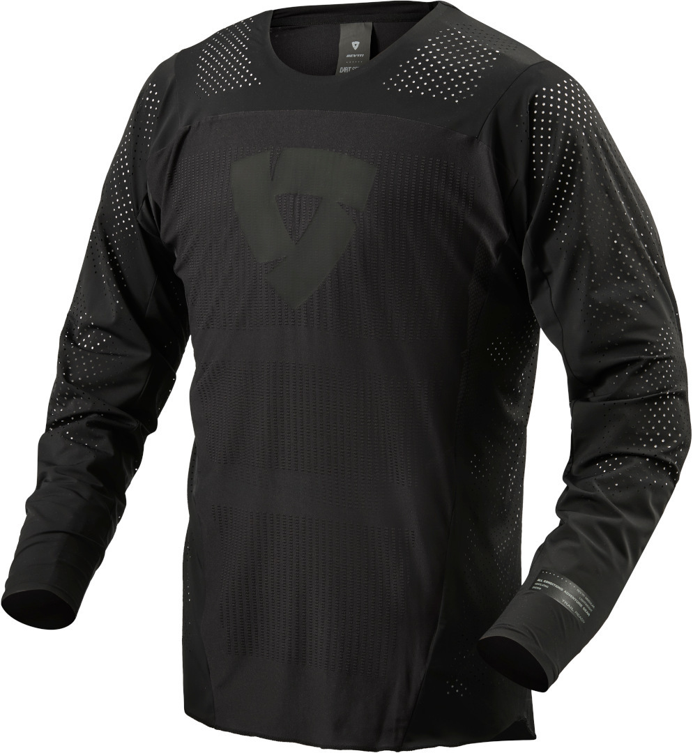 Revit Flow Motocross Jersey, schwarz, Größe M, schwarz, Größe M