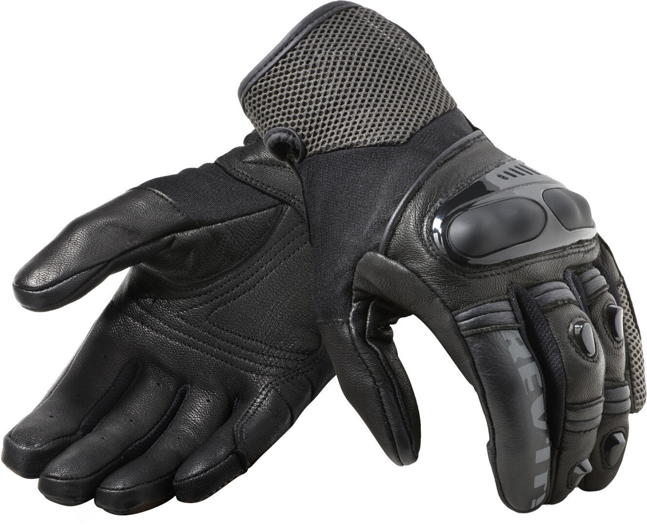 Revit Metric Motorradhandschuhe, schwarz-grau, Größe 2XL, schwarz-grau, Größe 2XL