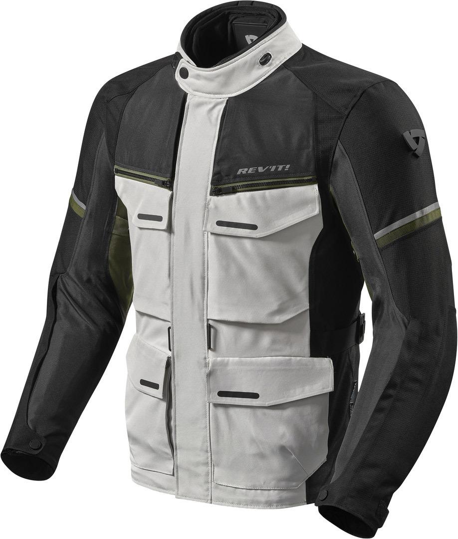 Revit Outback 3 Motorrad Textiljacke, grau-grün, Größe L, grau-grün, Größe L