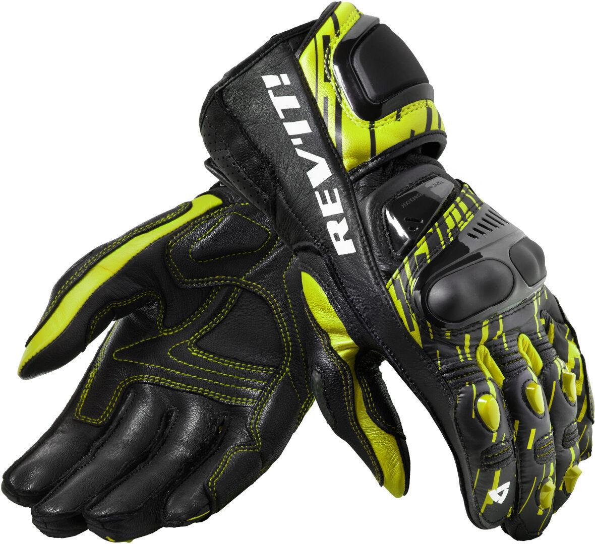 Revit Quantum 2 Motorradhandschuhe, schwarz-gelb, Größe M, schwarz-gelb, Größe M