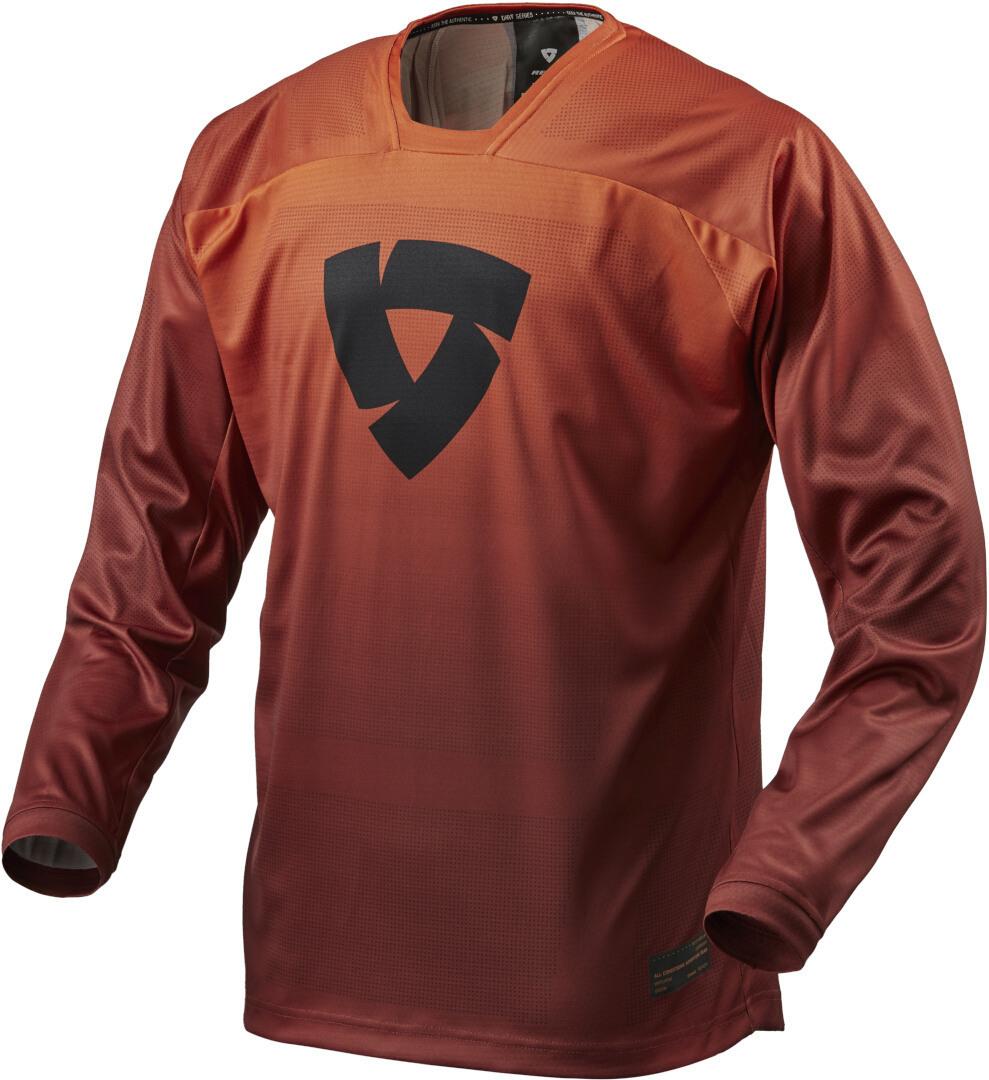 Revit Scramble Motocross Jersey, rot-orange, Größe M, rot-orange, Größe M