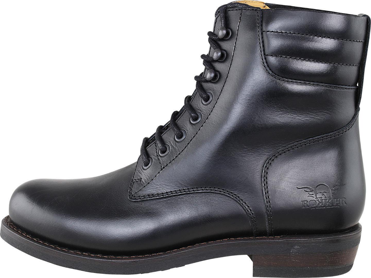 Rokker Boot Collection Frisco Racer 8 Motorradstiefel, schwarz, Größe 46, schwarz, Größe 46