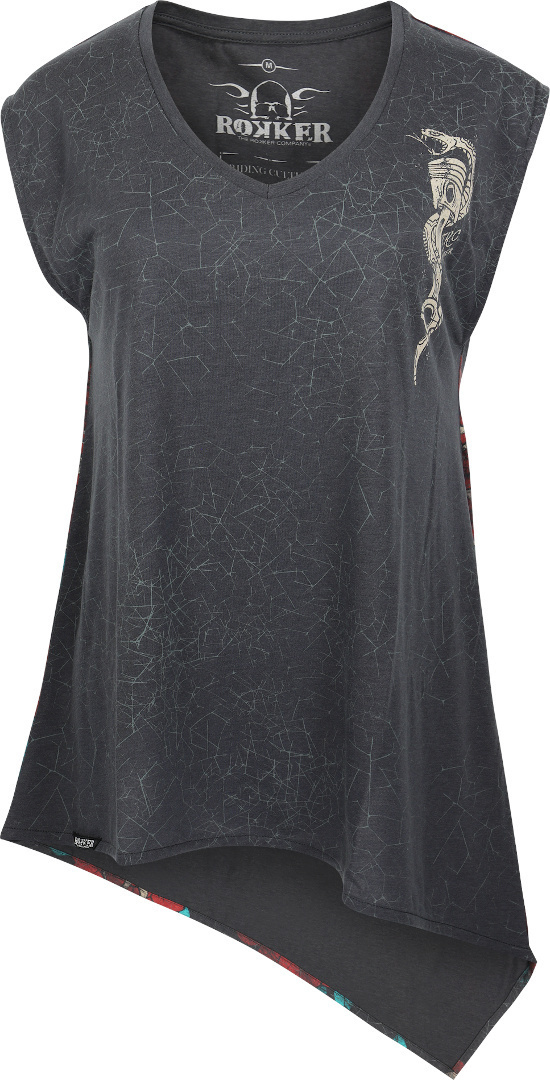 Rokker Cobra Damen Longshirt, schwarz, Größe L, schwarz, Größe L