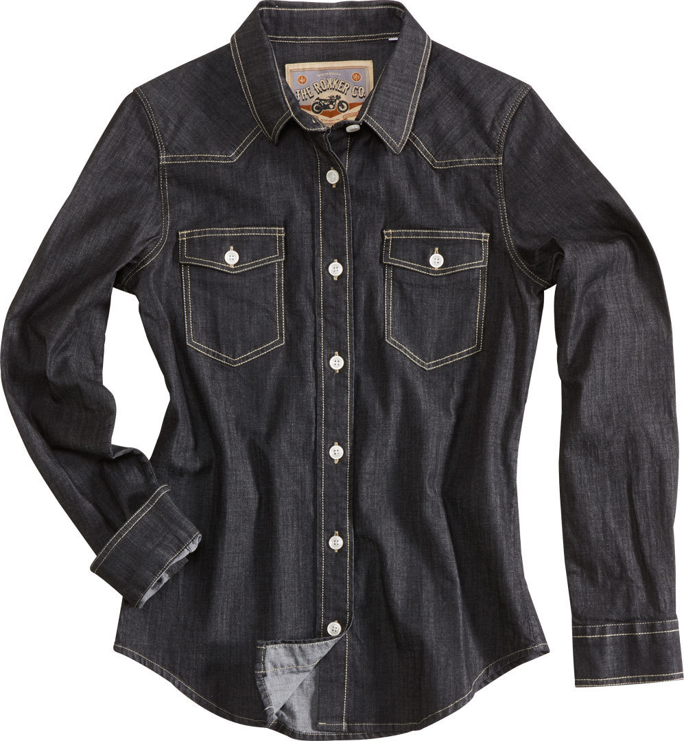 Rokker Juneau Damenshirt, schwarz, Größe S, schwarz, Größe S