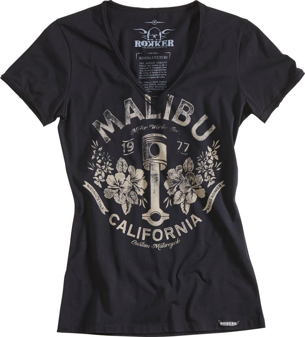 Rokker Malibu Damen T-Shirt, weiss, Größe XS, weiss, Größe XS