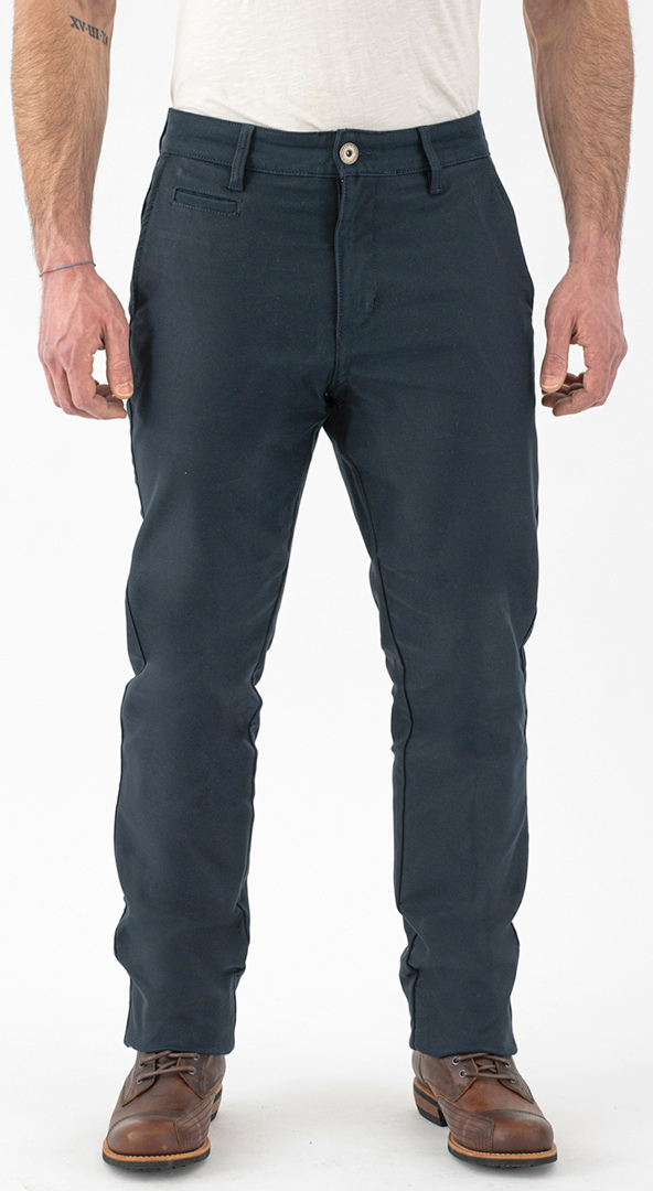 Rokker Navy Chino Motorrad Textilhose, blau, Größe 27, blau, Größe 27