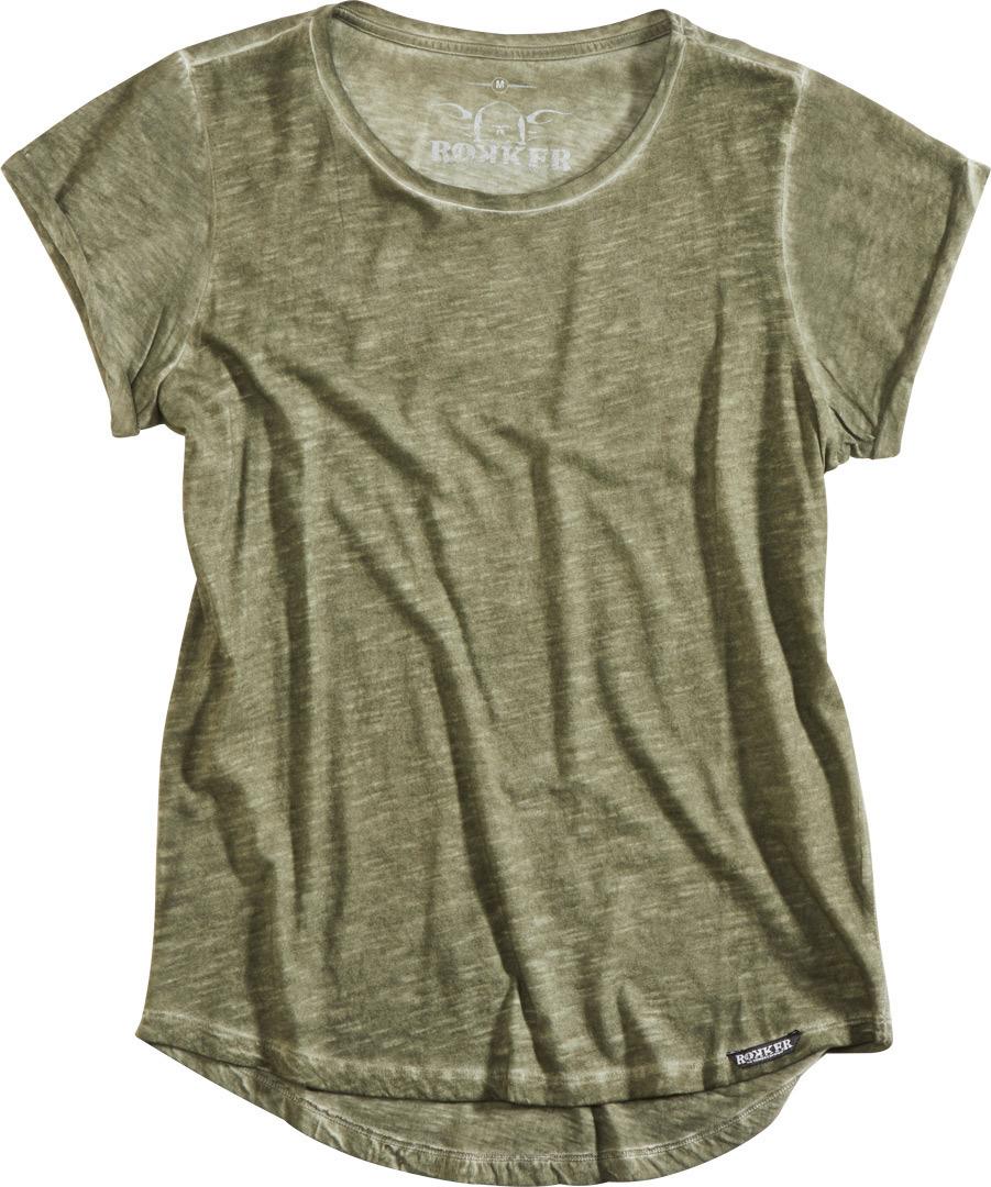 Rokker RKK Birdie Damen T-Shirt, grün, Größe M, grün, Größe M