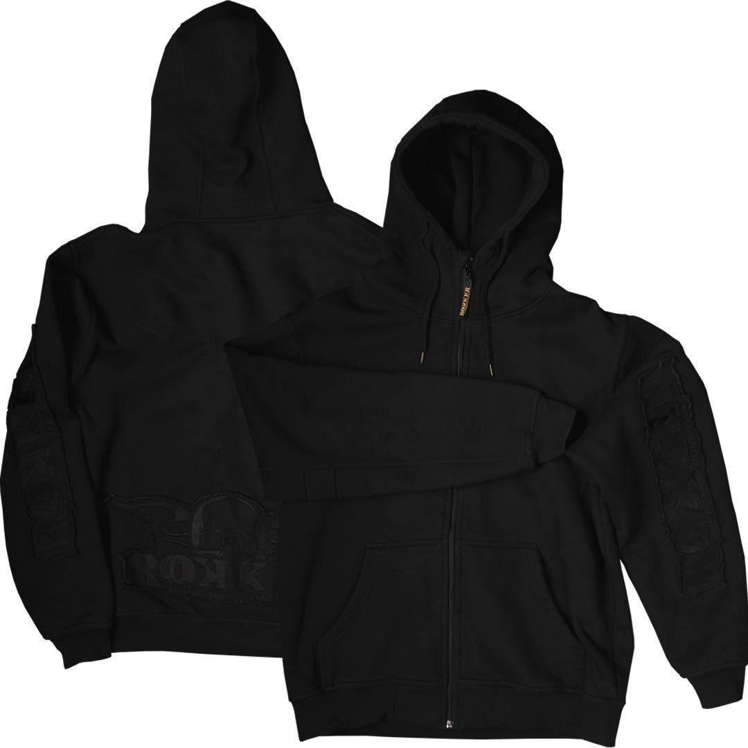 Rokker Zip Hoodie, schwarz, Größe XS, schwarz, Größe XS