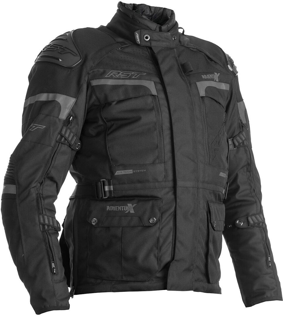 RST Adventure-X Motorrad Textiljacke, schwarz, Größe 62, schwarz, Größe 62