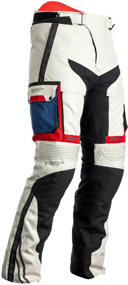 RST Pro Series Adventure-X Motorrad Textilhose, weiss-rot-blau, Größe 46, weiss-rot-blau, Größe 46