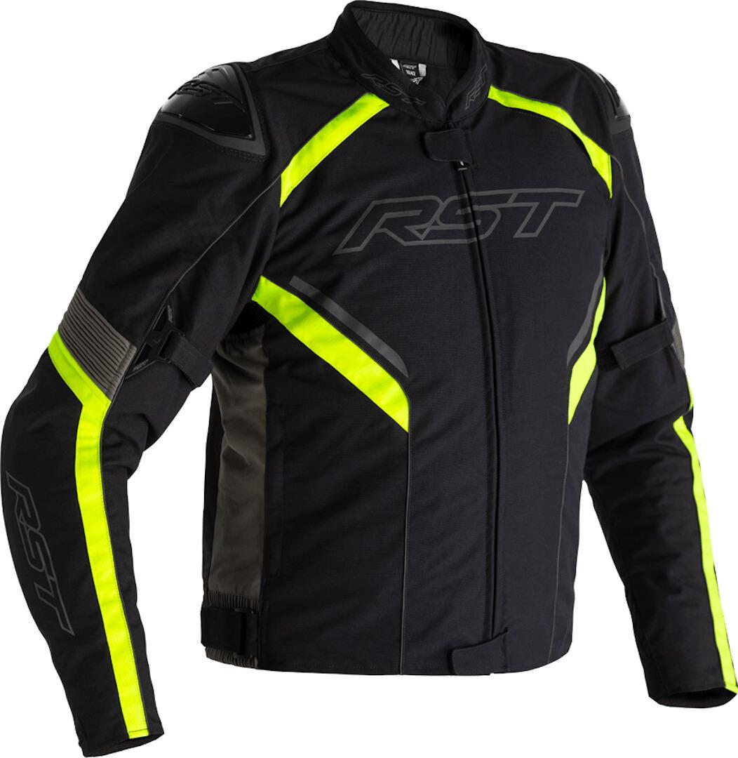 RST Sabre Airbag Motorrad Textiljacke, schwarz-grau-gelb, Größe 60, schwarz-grau-gelb, Größe 60