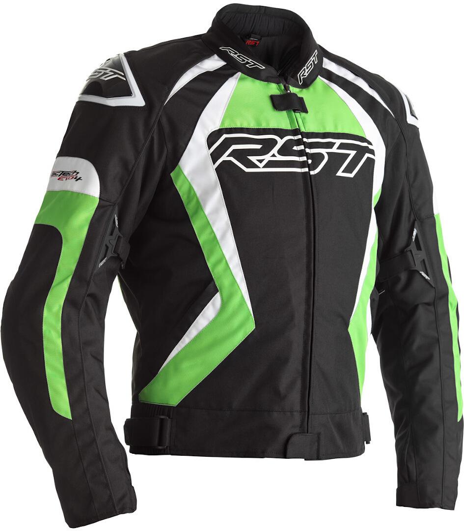 RST Tractech EVO 4 Motorrad Textiljacke, schwarz-grün, Größe 52, schwarz-grün, Größe 52