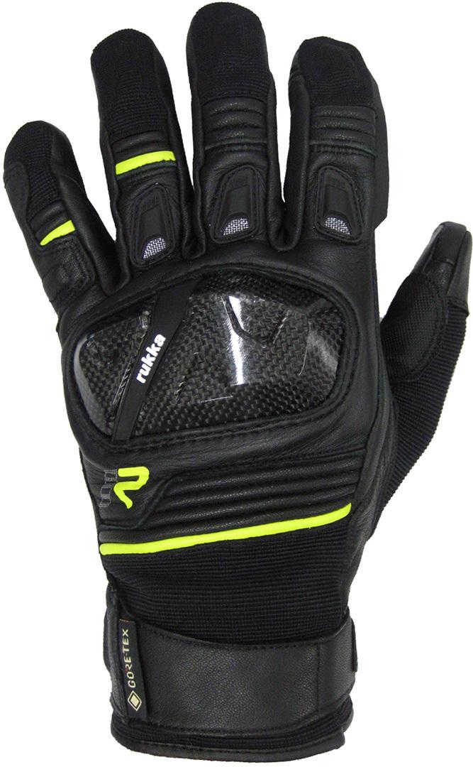 Rukka Ceres 2.0 Gore-Tex Motorradhandschuhe, schwarz-gelb, Größe 2XL, schwarz-gelb, Größe 2XL