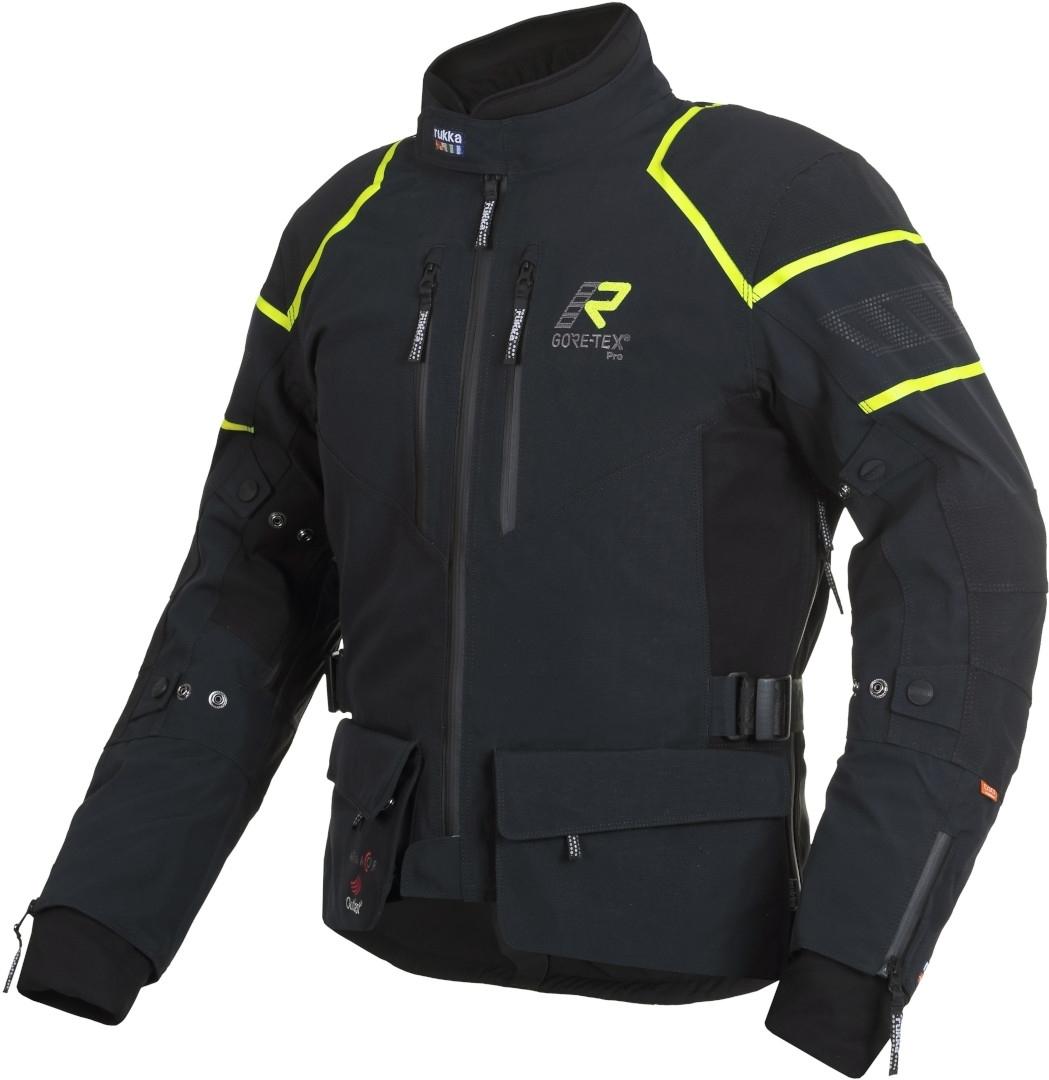 Rukka Exegal Gore-Tex Motorrad Textiljacke, schwarz-gelb, Größe 54, schwarz-gelb, Größe 54