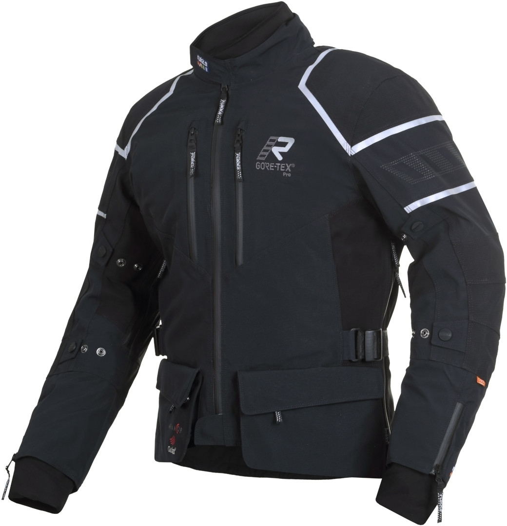 Rukka Exegal Gore-Tex Motorrad Textiljacke, schwarz-weiss, Größe 64, schwarz-weiss, Größe 64