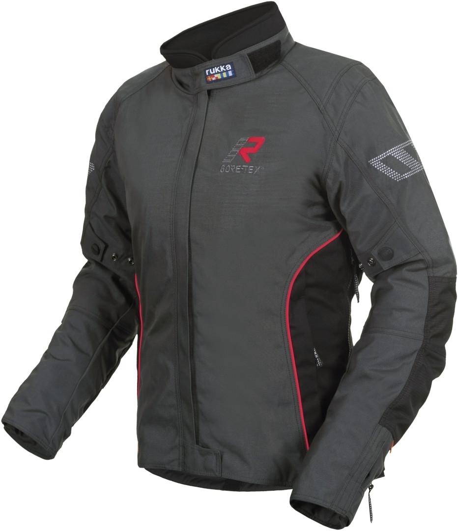 Rukka Hermia Gore-Tex Damen Motorrad Textiljacke, schwarz-rot, Größe 40, schwarz-rot, Größe 40