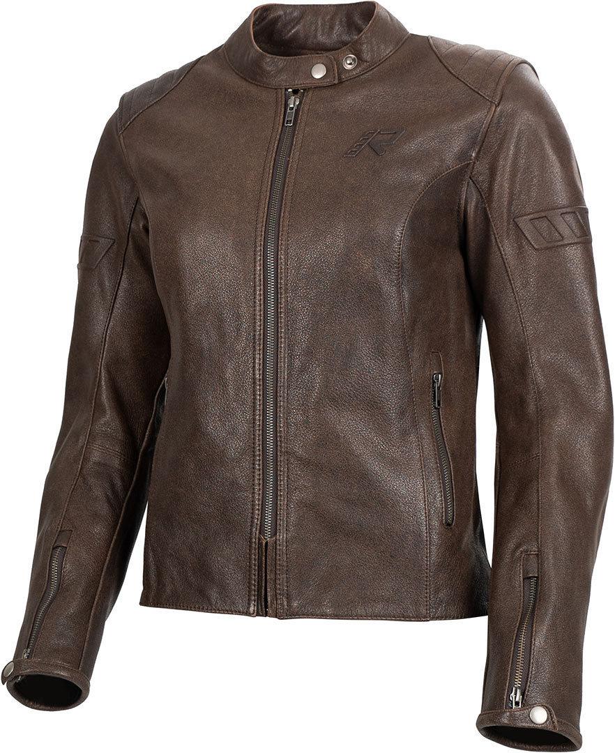 Rukka Mehan Damen Motorrad Lederjacke, braun, Größe 38, braun, Größe 38