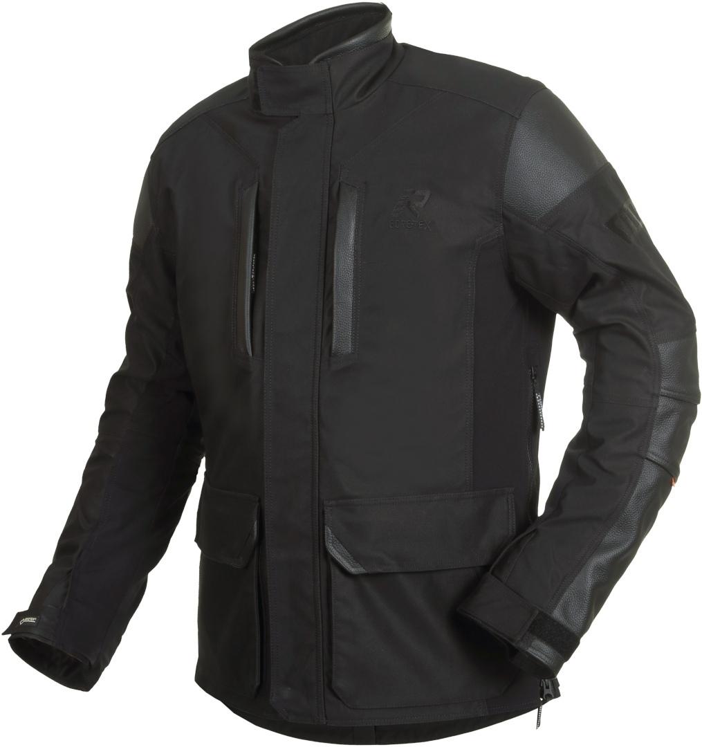 Rukka Melfort Gore-Tex Motorrad Textiljacke, schwarz-silber, Größe 56, schwarz-silber, Größe 56