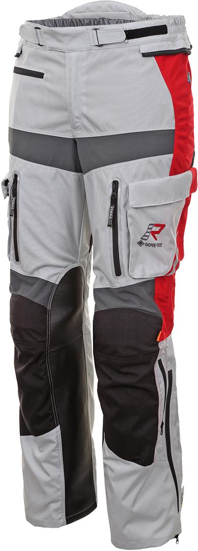 Rukka Offlane Motorrad Textilhose, grau-rot, Größe 60, grau-rot, Größe 60