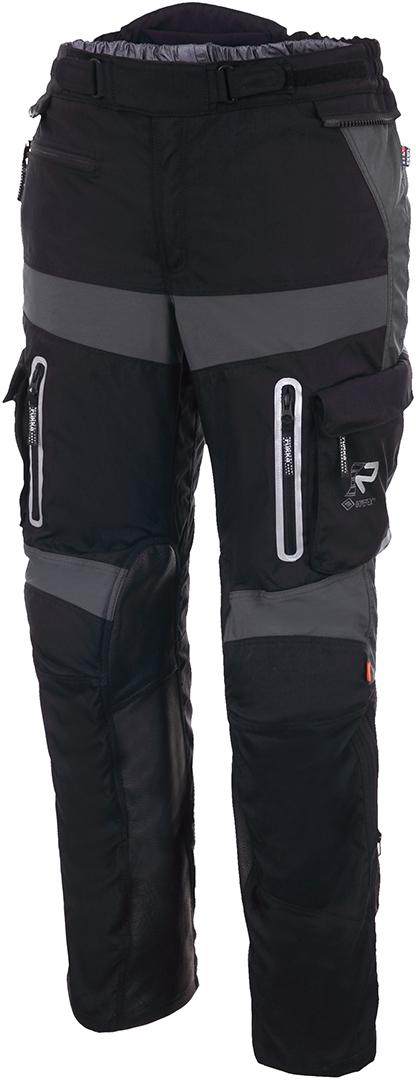 Rukka Offlane Motorrad Textilhose, schwarz-grau, Größe 60, schwarz-grau, Größe 60