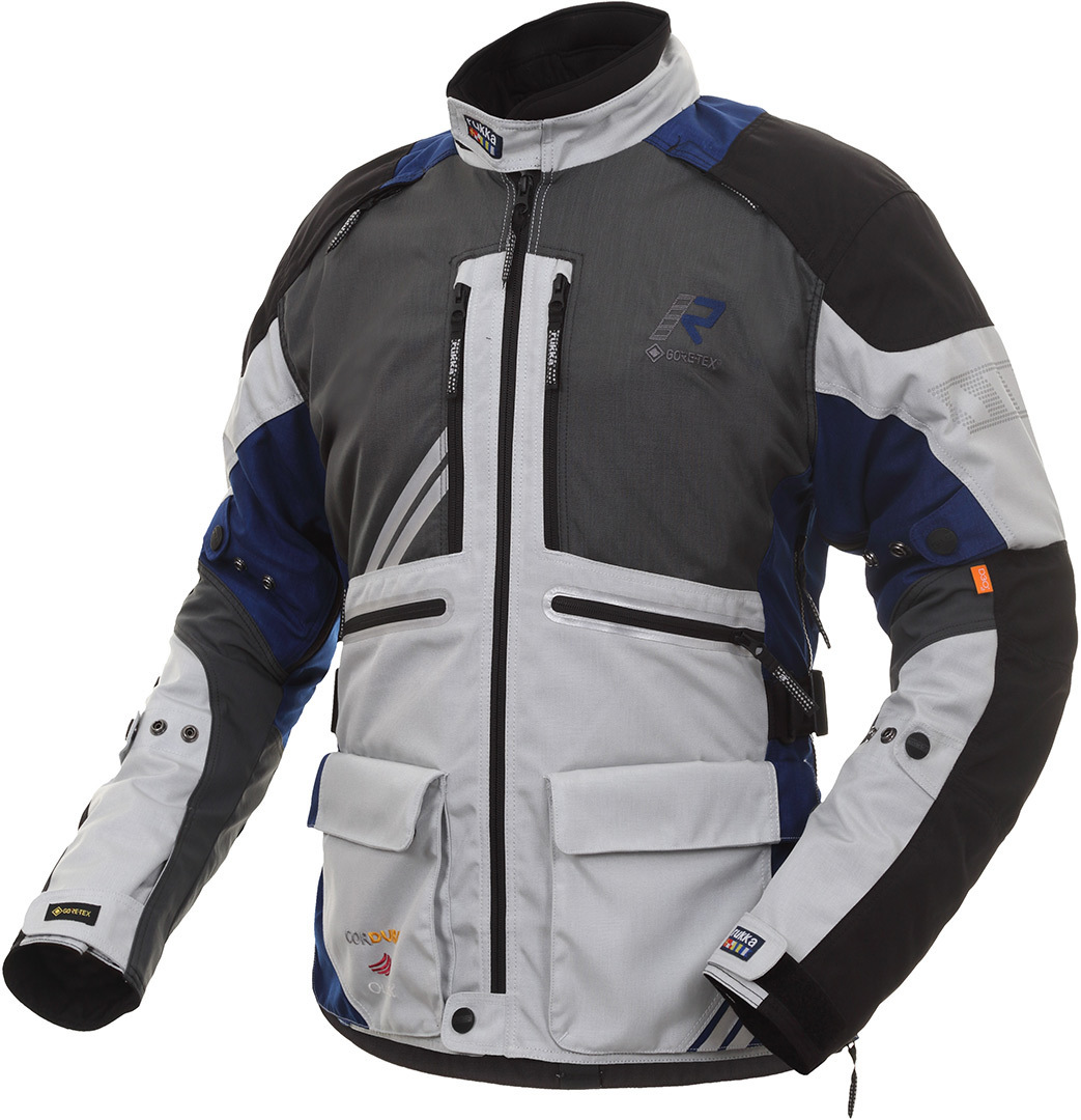 Rukka Offlane Motorrad Textiljacke, grau-blau, Größe 62, grau-blau, Größe 62