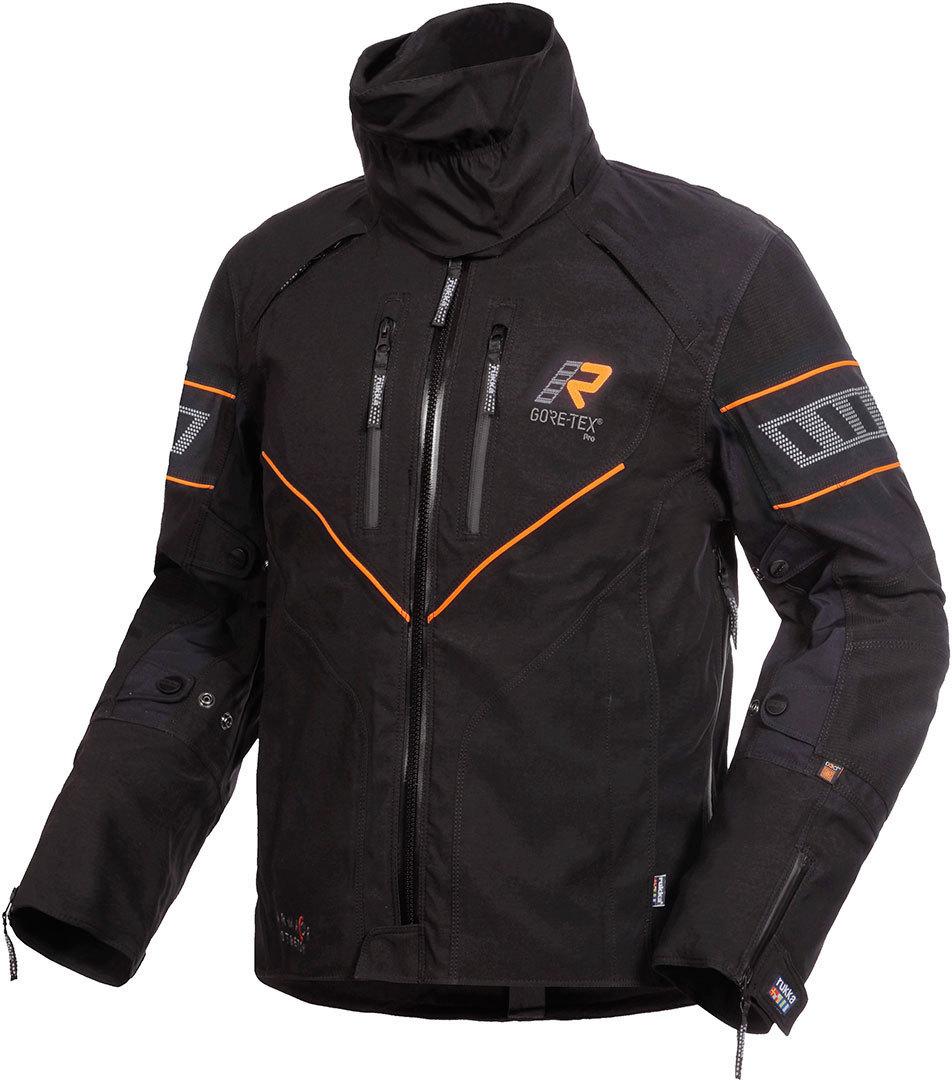 Rukka Realer GTX Motorrad Textiljacke, schwarz-orange, Größe 46, schwarz-orange, Größe 46