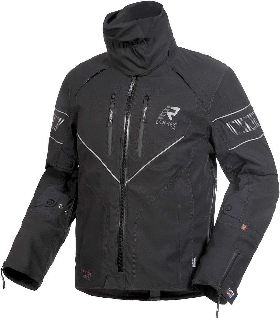 Rukka Realer GTX Motorrad Textiljacke, schwarz-weiss, Größe 62, schwarz-weiss, Größe 62