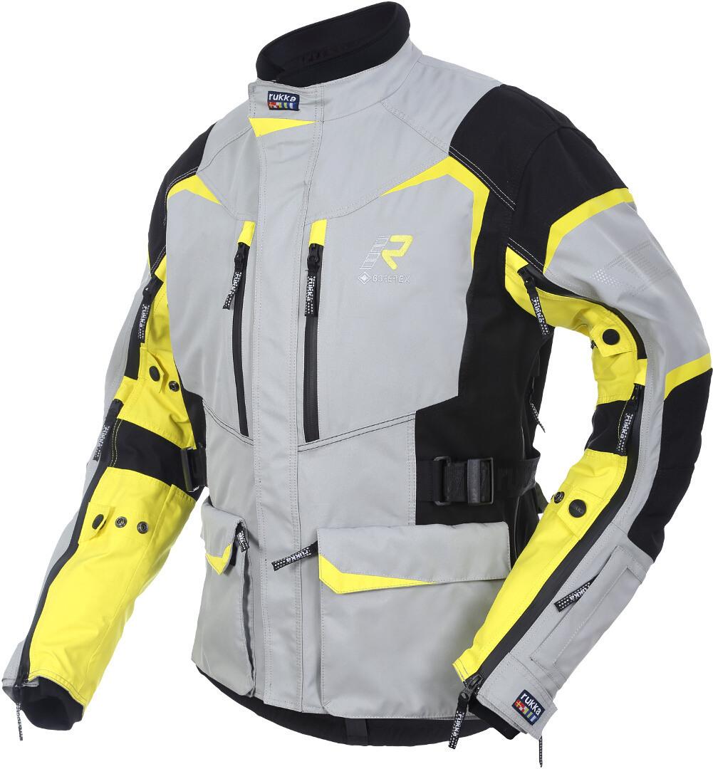 Rukka Rimo-R Motorrad Textiljacke, gelb-silber, Größe 48, gelb-silber, Größe 48