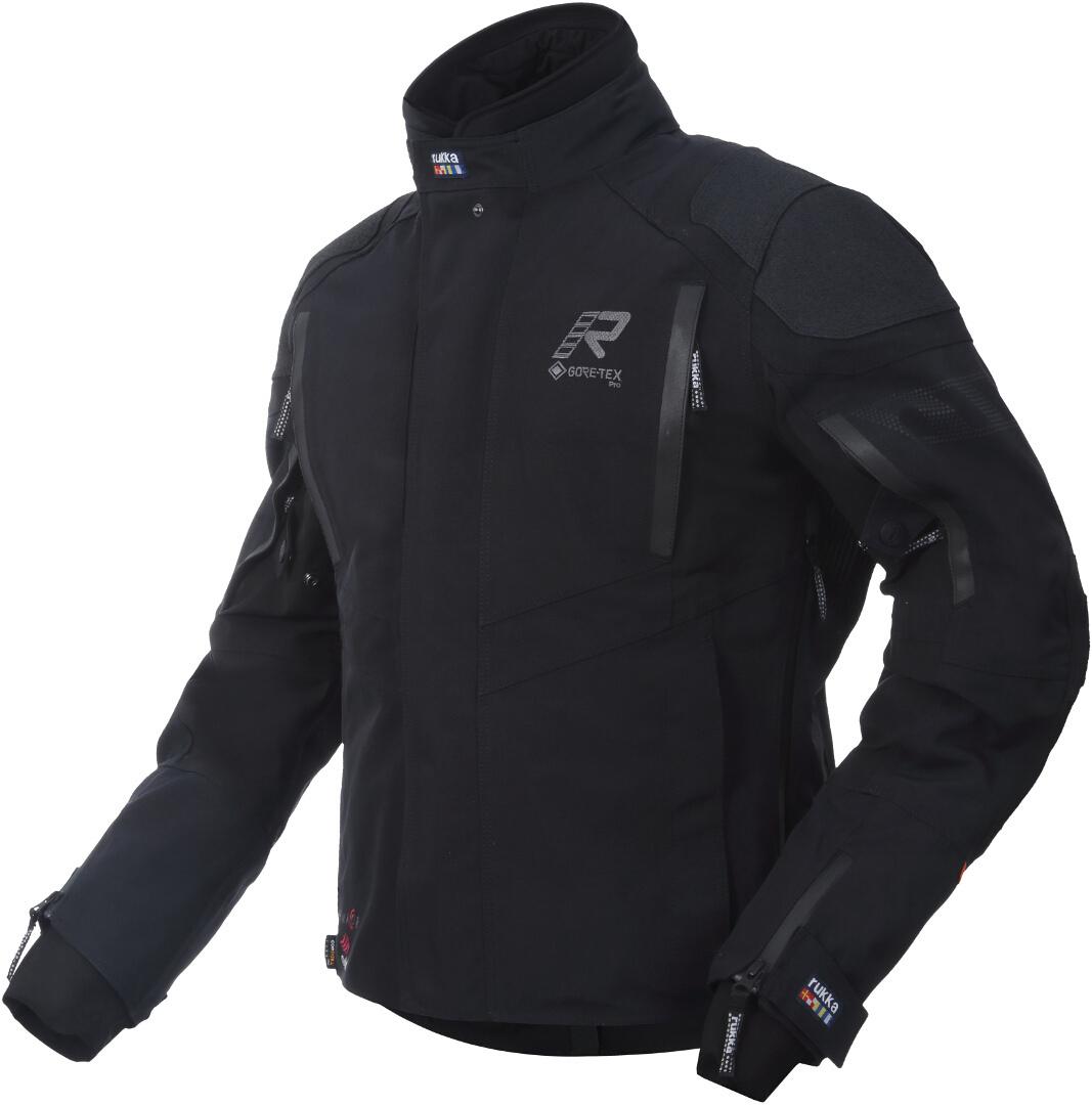 Rukka Shield-R Motorrad Textiljacke, schwarz, Größe 46, schwarz, Größe 46