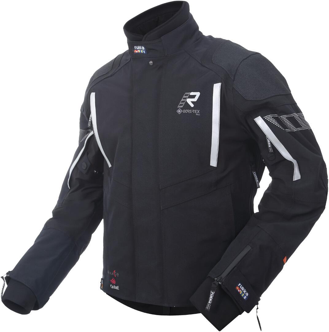 Rukka Shield-R Motorrad Textiljacke, schwarz-silber, Größe 54, schwarz-silber, Größe 54