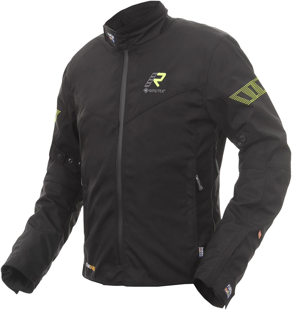 Rukka Start-R Motorrad Textiljacke, schwarz-gelb, Größe 48, schwarz-gelb, Größe 48